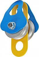 Блок-ролик «Промальп» двойной D=50/41мм стальной 50kN Krok 02211, фото 1