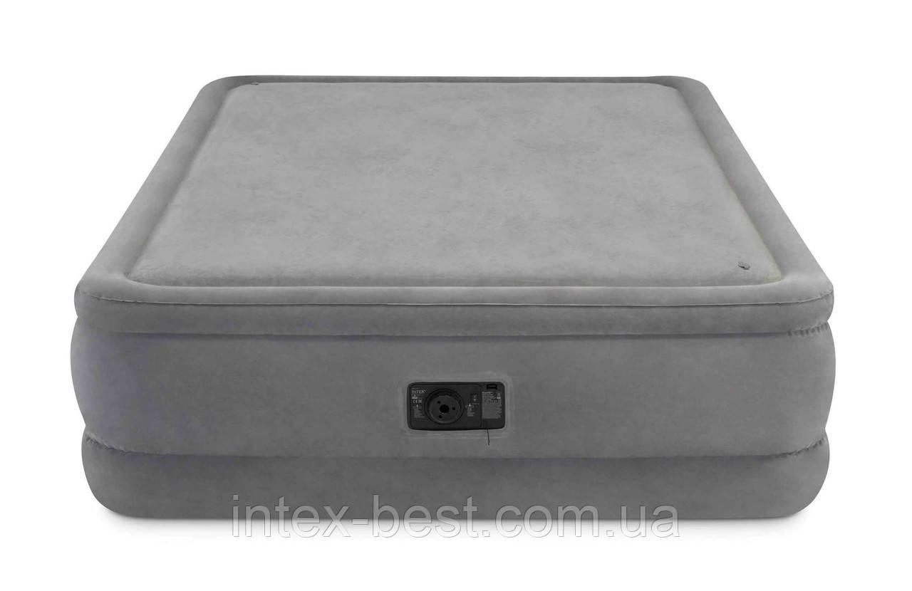 Intex 64470 надувная кровать Foam Top Bed 152x203x51см