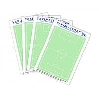 Тактический блокнот  А6 для футбольного тренера, набор 4 ШТ. YAKIMASPORT 100195