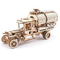 Деревянная сборная механическая 3D модель Ugears Грузовик автоцистерна 70021
