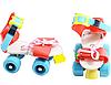 Раздвижные ролики квады Profi MS 0053,  размер 15.5-21см, фото 2