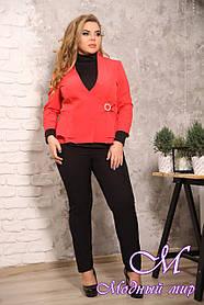Красивый женский пиджак больших размеров (р. 48-90) арт. Мила-Лика