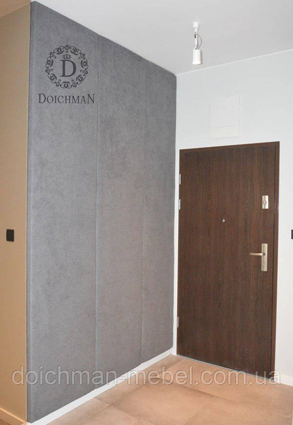 Декоративные стеновые панели в прихожую кожа, кожзам, ткань