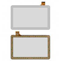 """Сенсорный экран (touchscreen) для Irbis TX12, 10.1"""", 159-257мм, 45 pin, емкостный, белый, оригинал"""