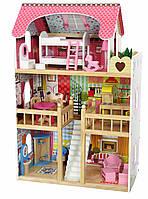 Игровой кукольный домик для барби 4109 Roseberry + 2 куклы