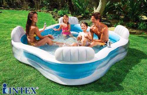 Детский надувной бассейн Intex 56475 Космический плот 229 х 229 х 66 см