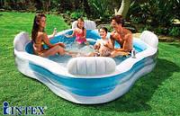 Детский надувной бассейн Intex 56475 Космический плот 229 х 229 х 66 см, фото 1