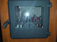 Печные дверцы с термостойким стеклом Delta Opera (360х360)