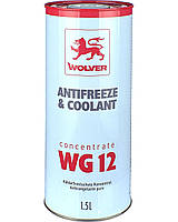 Антифриз WOLVER ANTIFREEZE& COOLANT CONCENTRATE WG12 1,5л
