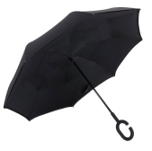 Умный зонт обратного сложения UP-BRELLA монотонный