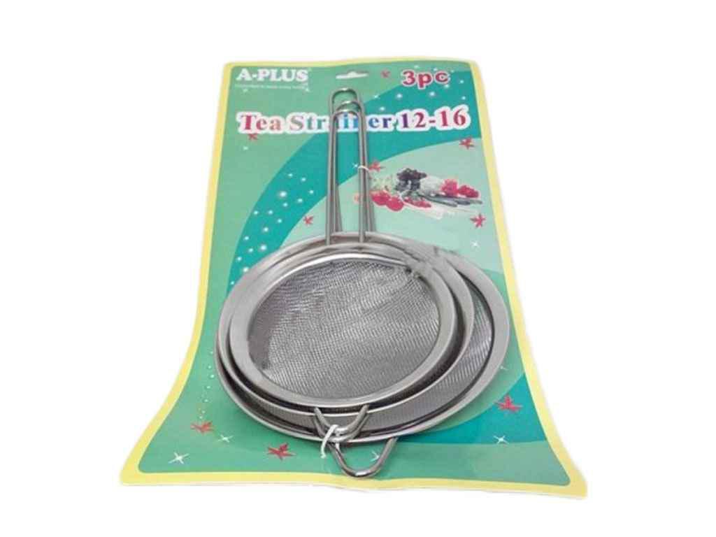 """Набор сит чайных (3 шт) разные диаметры 1264 """"А-ПЛЮС"""""""