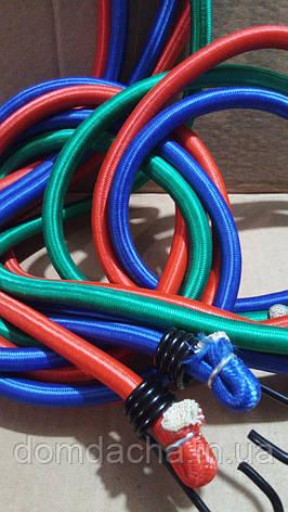 Жгут резиновый многожильный круглого сечения для крепления багажа с крючками 2 м, фото 2