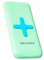 Повербанк power bank Awei P98k 7000mAh с беспроводной зарядкой \ Green, фото 1
