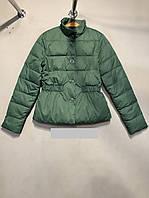 Женская стильная куртка цвет зеленый  размер L(46)