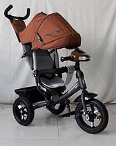 Триколісний велосипед Azimut Crosser One T1 AIR шоколадний