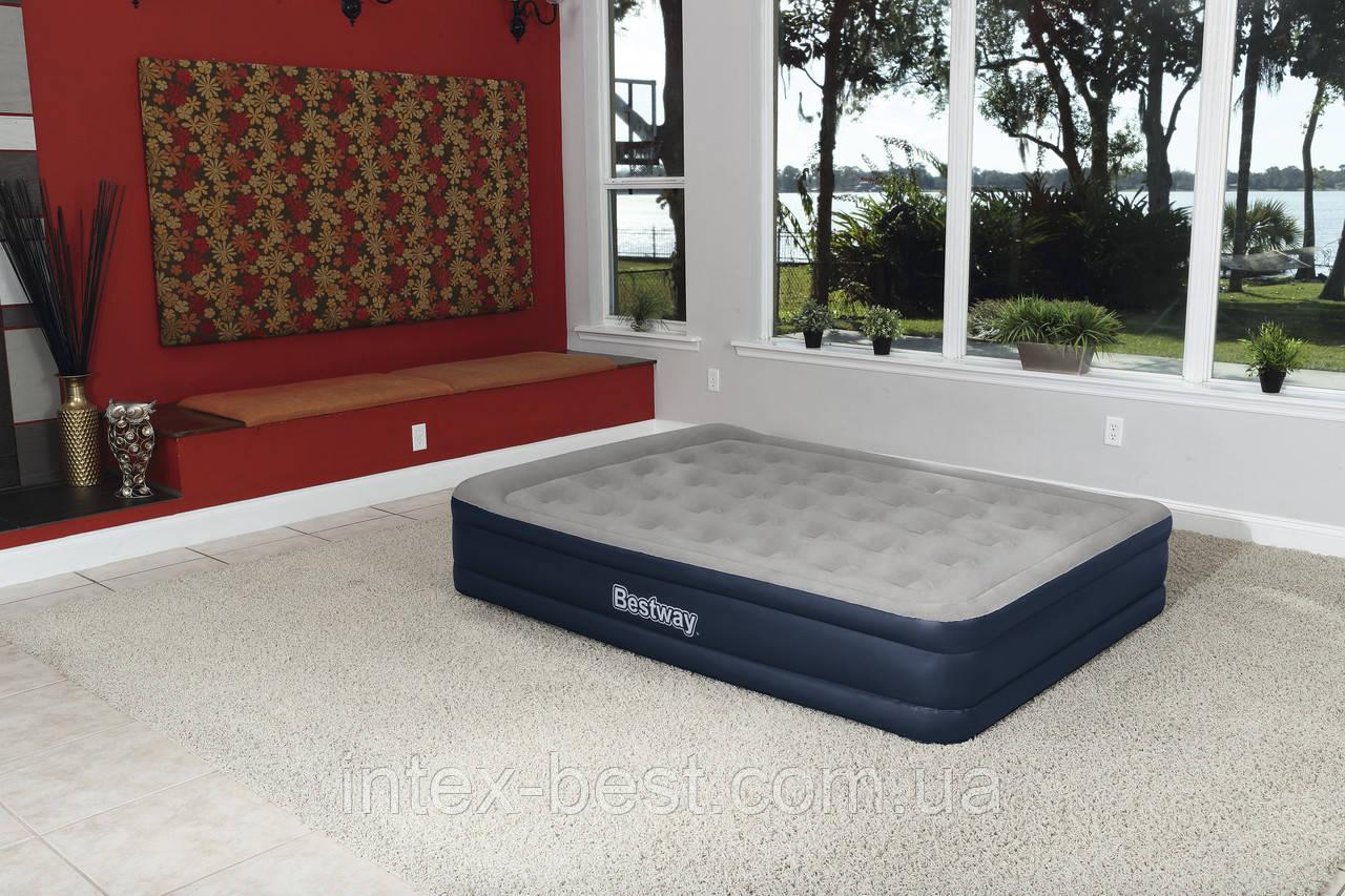 67600 BW Надувная кровать Cornerstone Airbed, 203х152х43см, встроенный электронасос