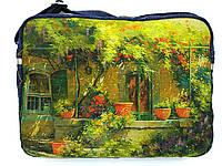 Джинсовая сумочка Зеленый дворик