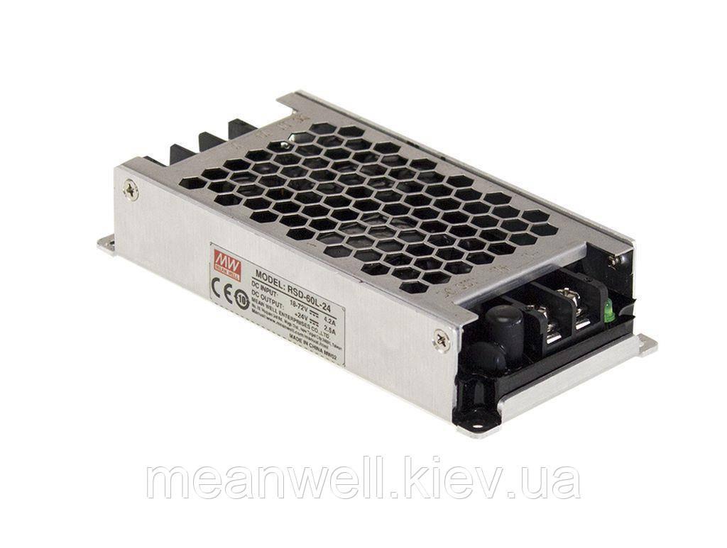 RSD-60L-24 Блок питания Mean Well DC DC преобразователь вход 18~ 72VDC, выход 24в, 2,5A