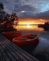 Картина по номерам 40х50 Лодки у причала (GX21737)