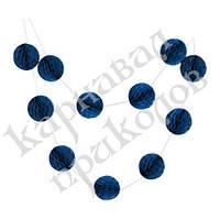 Гирлянда праздничная Шары соты (синий 0002), фото 1