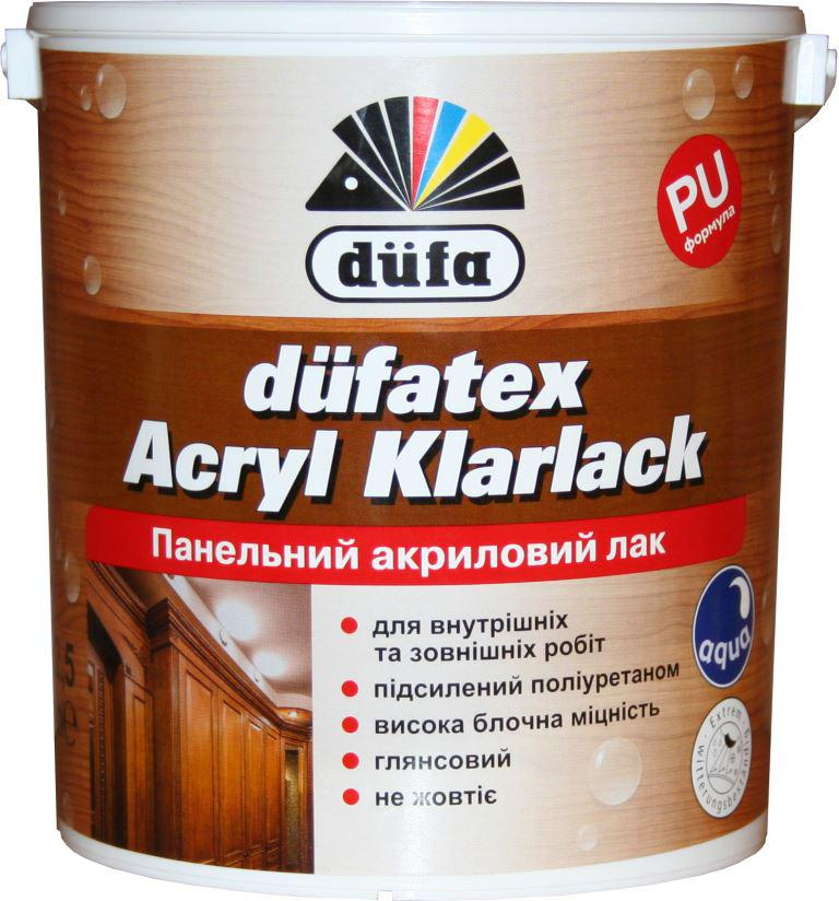 Лак панельний акриловий Dufa Acryl Klarlack 2,5л глянцевий