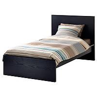 IKEA MALM Кровать высокая, черно-коричневая  (802.494.93)