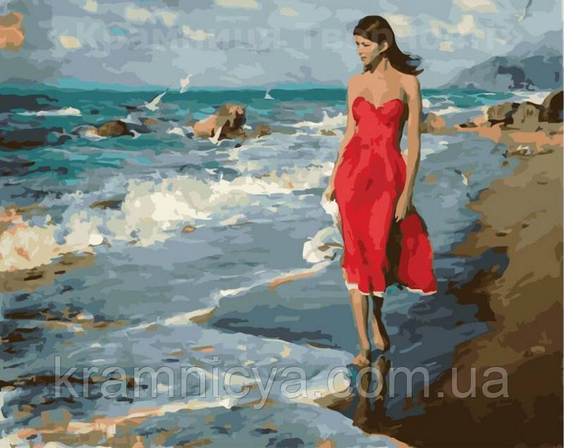 Картина по номерам 40х50 По морскому берегу (GX22239)