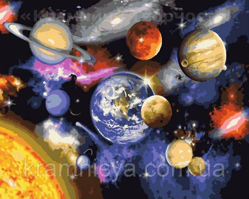 Картина по номерам 40х50 Парад планет (GX22268)