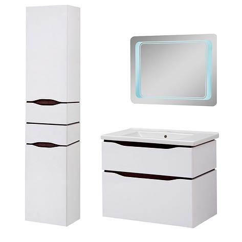 Комплект мебели для ванной комнаты Сенатор 80 подвесной с зеркалом Юввис, фото 2