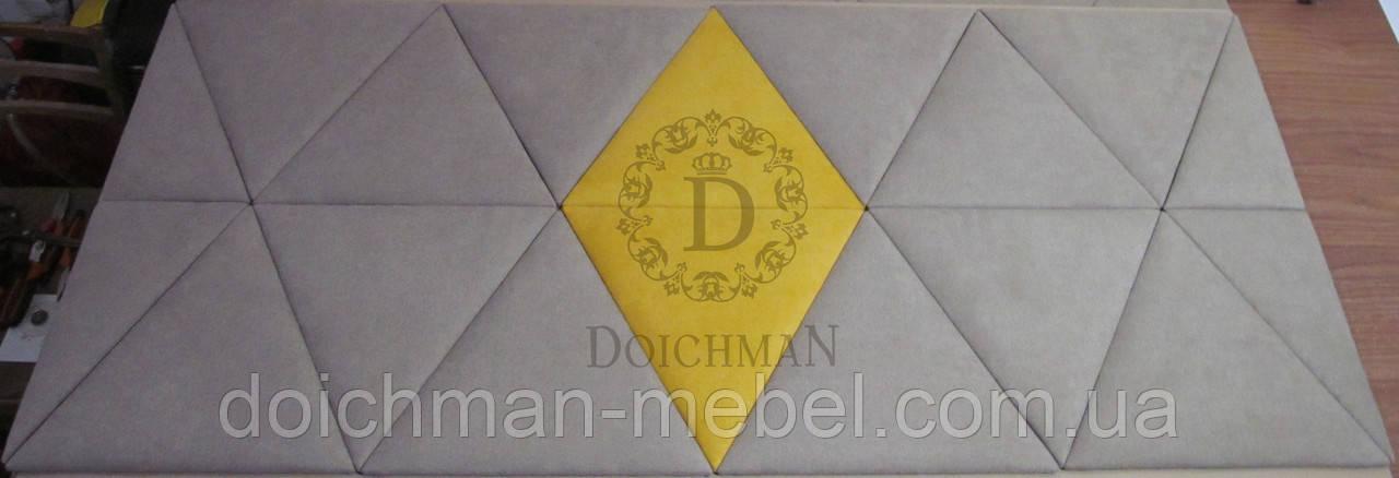 Мягкая плитка стеновые панели треугольники из ткани кожзама, кожи на заказ