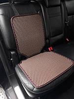 Защитный коврик под детское автокресло коричневый
