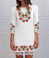 Заготовка жіночого плаття чи сукні для вишивки та вишивання бісером Бисерок  «Маки 122» ( ea8b328943309