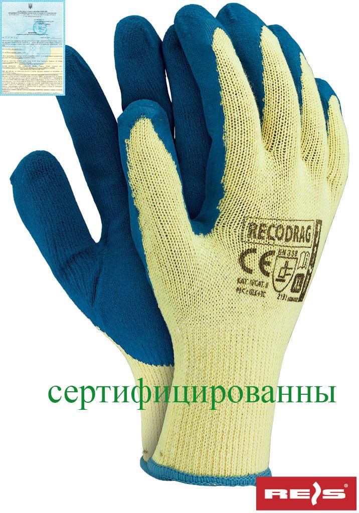 Перчатки защитные проклеенные RECODRAG YN