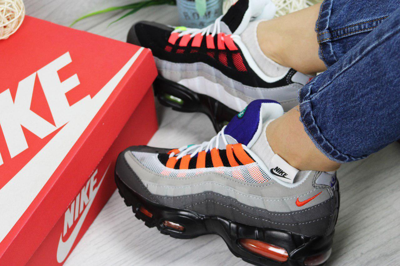 6a13e3554861b4 Кроссовки в стиле Nike Air Max 95 (разноцветные) кроссовки найк nike -  Интернет-