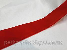Стрічка оксамитова (бархатка) 5см, червона