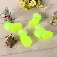 Резиновые сапожки для собак мелких пород желтые