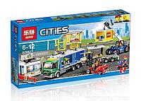 Конструктор Lepin 02082 Город Грузовой терминал (аналог Lego City 60169) 829 дет.