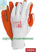 Перчатки рабочие RECORANGE WP стекольщика и каменщика REIS (RAW-POL) Польша