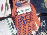 Перчатки рабочие Doloni с ПВХ оранжевые (звезда)