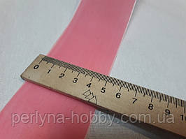 Стрічка оксамитова (бархатка) 5см, рожева