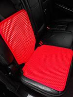 Защитный коврик под детское автокресло красный