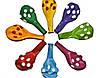 """Воздушные шары с рисунком Gemar 12"""" - 30 см (Горошек микс)"""