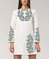 Заготовка жіночого плаття чи сукні для вишивки та вишивання бісером Бисерок  «Іриси 03» ( 7b7794c3538c6