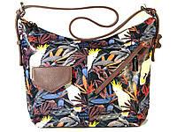 """Оригинальная женская кожаная сумка на плечо с принтом """"Джунгли"""", кожа Италия, весна 2018"""