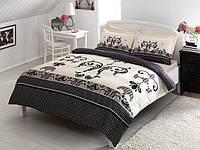 TAC евро комплект  постельного белья saten Delux Jaden black