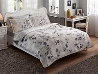 TAC Полуторный комплект постельного белья сатин делюкс Magnolia grey