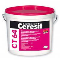 """Ceresit CT-64 """"Короед"""", готовая декоративная акриловая штукатурка (фракция 2 мм), 25 кг"""
