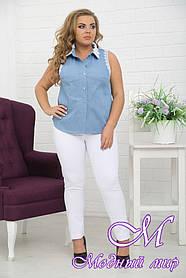 Летняя джинсовая жилетка больших размеров (р. 48-90) арт. Дана