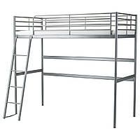 IKEA SVARTA Двухъярусная кровать, серебристый  (202.479.82)