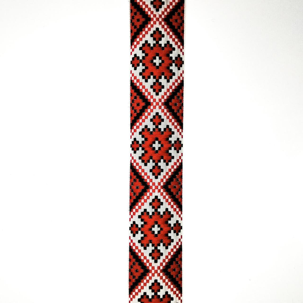 Лента отделочная с украинским орнаментом 32 мм (25м/рулон)